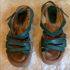 Dansko teal  sandals size 38